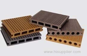 Hollow wpc decking flooring