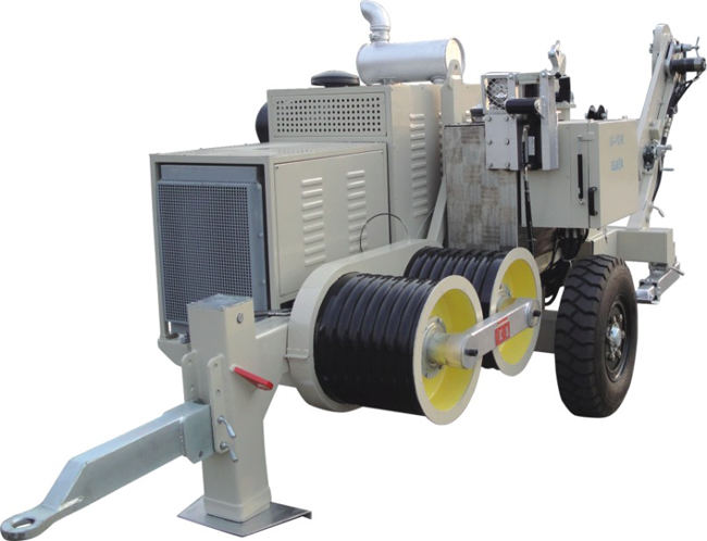 Hydraulic Cable Pulling Machine : Ton hydraulic conductor winch pulling machine for mm