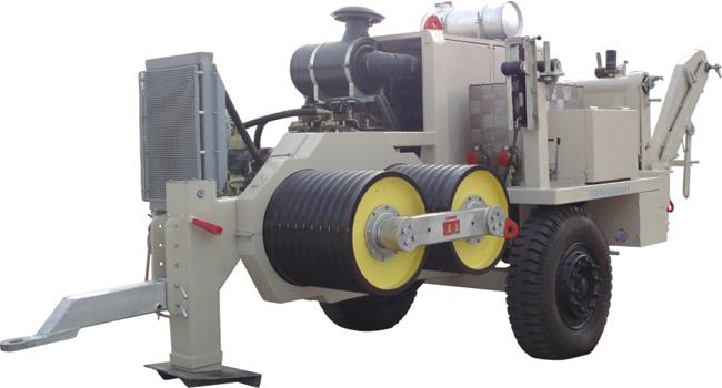Hydraulic Line Puller : Ton stringing winch puller for overhead conductors