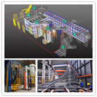 vertical aluminum profile powder coating line