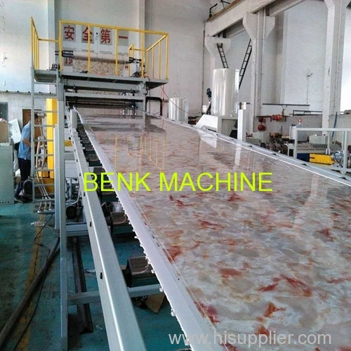 pvc imitation marble sheet making machinery