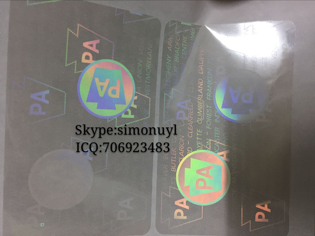 3d Manufacturer 015 Pa Pennsylvania Overlay Id From Co License Hologram Driving Shenzhen Sticker Ltd State China Digital Time