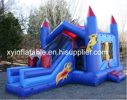 Hot Sale Karting Bouncer Slide Inflatable Combo