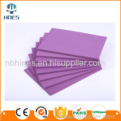Foam material sheet roll and board