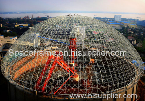 Steel space frame coal shed