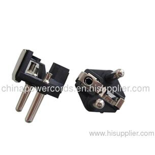 Schuko plug inserts with hollow pins