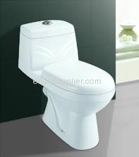 PP seat one piece toilet