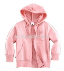 Children's sweater with funnel cap pink color