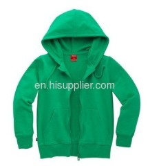 Children's sweater with hood green color