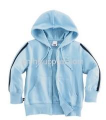 Children's sweater with hood light bluecolor