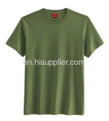 Green low round neck T-shirt