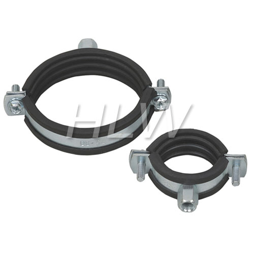 Pipe clamp with rubber china