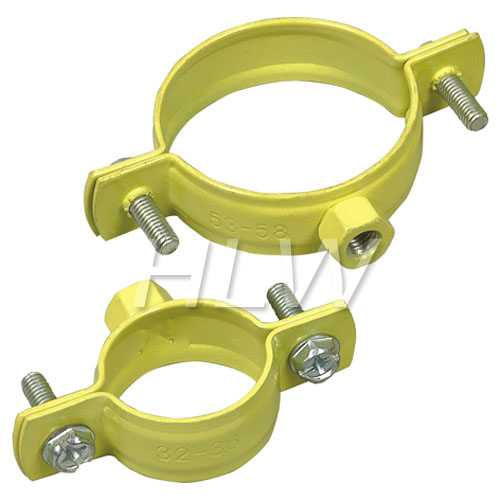 Pipe clamp with plastic coated china