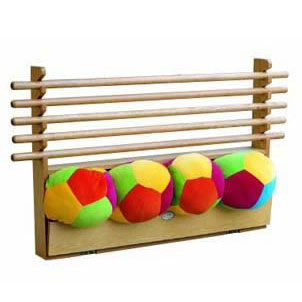 Horizontal Gymnastic Rods and Balls