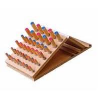 Adjustable Slope Wooden Peg Inserting Board