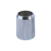 Chromed plastic nut with decorative pattern