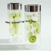 double layers glass cups