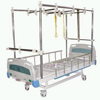 Wheeled Traction Bed with ABS Bed Head and Aluminum Alloy Guardrails