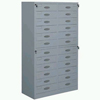 Steel Plastic-spray Multi-drawer Information Cabinet