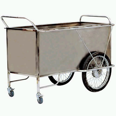 Steel delivery trolley