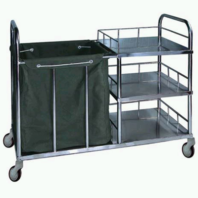 Steel nursing trolley