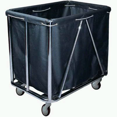 Steel waste trolley