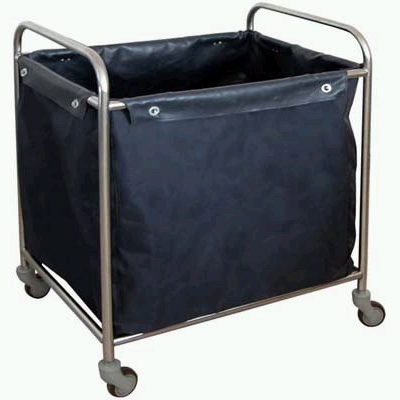 Stainless waste trolley