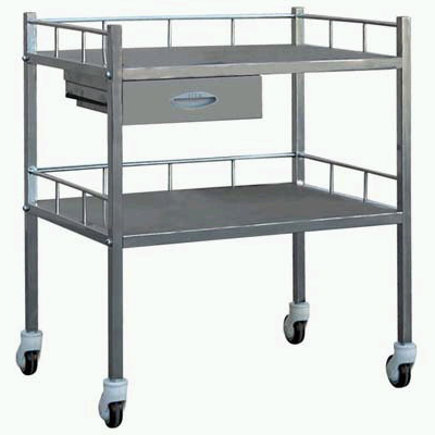 Stainless treatment trolley