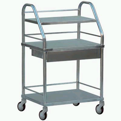 Steel instrument trolley