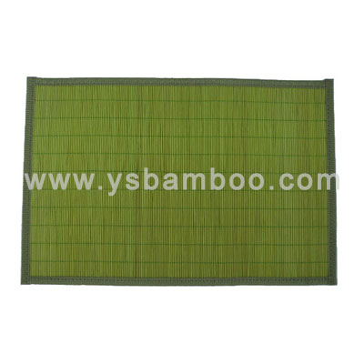 new stain bamboo lunchmats