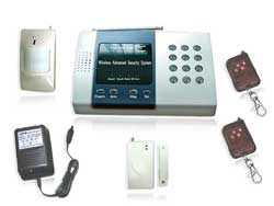 Wireless Alarm System with 5 LED display of defense zone