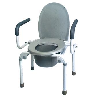 Flip-up armrest Commode