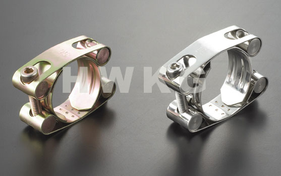 Double Bolts Stainless steel Super Hose Clamp