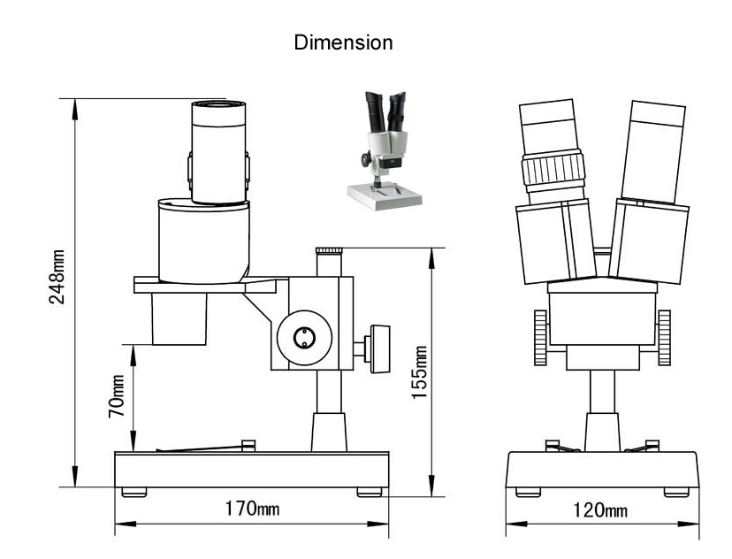 boom stereo microscope