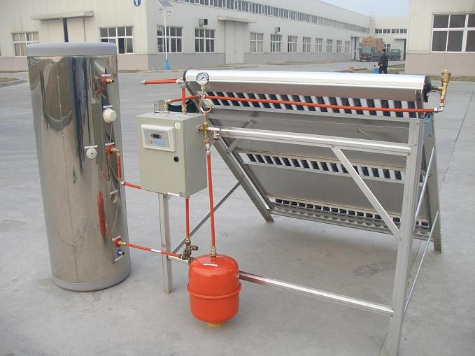 supply split solar collector with heat pipe