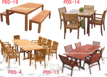 patio wooden furniture outdoor dining table garden folding chair set4 2 - Garden Furniture Top View Psd
