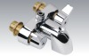 Two handles chrome plated faucet shower (9813-A)