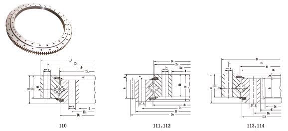 Single-Row Crossed Rollers Slewing Ring