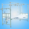 Reverse orthopedics traction bed with stainless steel bedstead and steel plate surface