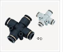 pneumatic plastic four head connector
