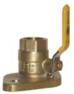 Brass flanged ball valves
