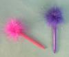 Valentine feather pen plastic ball pen marabou