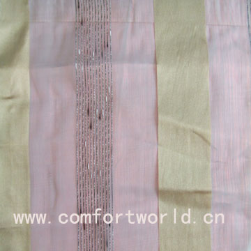 voile embroidery curtain fabric