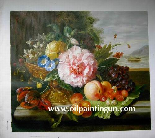 china flower oil paintings