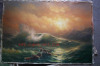 sea scenery oil painting