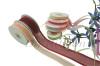 satin edge and metallic stripe Organza ribbon