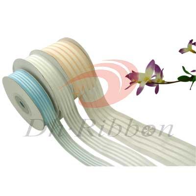 nylon new 4 stripes organza ribbon