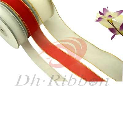 nylon ribbon with metallic
