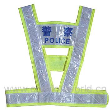 LED Reflecting Vest Police