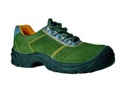 Green Suede Leather Work Shoes